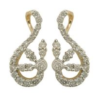 Diamond Earrings - BAPS0952ER, si - ijk, 14 kt