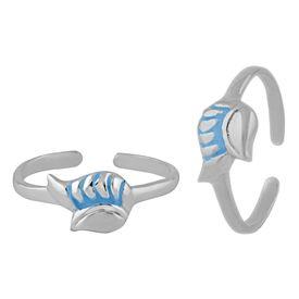 Engage Enamel Silver Toe Ring-TRMX091