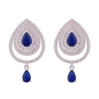 Royal Haze Silver Drop Earrings-ERMX003