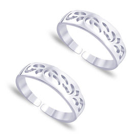 Fabulous Cutwork Sterling Silver Toe Ring-TR405