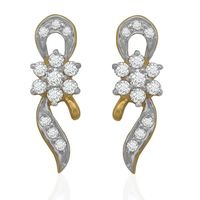Diamond Earrings - BAER0677, si - ijk, 18 kt