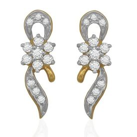 Diamond Earrings - BAER0677, si - ijk, 14 kt