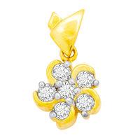 Bouquet Diamond Pendant- GUP0043, si - ijk, 14 kt