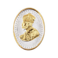 King George Gold Polish Oval 10 Grams 999 Silver Coin-CGP1G10