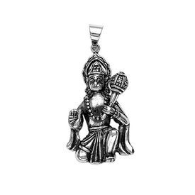 Lord Hanuman Silver Pendant-PD046