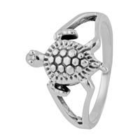 Tortoise Sterling Silver Finger Ring-FRL143, 16