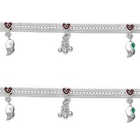 Mesmeric Red Hearts Anklets-ANK053
