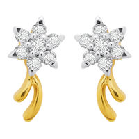 Fantasy Studs Diamond Earrings- BAPS217ER, si - ijk, 14 kt