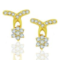 Diamond Earrings - BANS0450ER, si - ijk, 18 kt