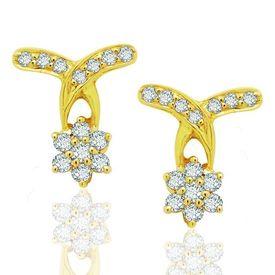 Diamond Earrings - BANS0450ER, si - ijk, 14 kt