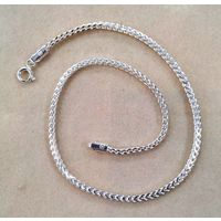 Dazzling Plain Chain Silver Anklet Single Piece-ANK1P002