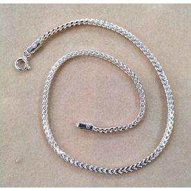 Dazzling Plain Chain Silver Anklet Single Piece-ANK1P002