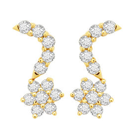 Diamond Earrings - DANS3ER, si - ijk, 14 kt