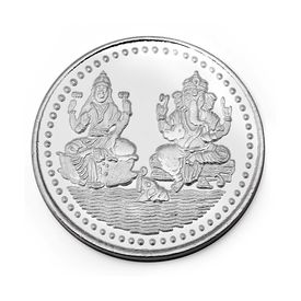 Manglam Jewellers Laxmi Ganesh 10 Grams 999 Silver Coin-MJC01G10