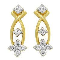 Diamond Earrings - BATS0202ER, si - ijk, 14 kt