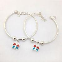 Colorful Butterfly Kids Silver Bracelete- BRKD005