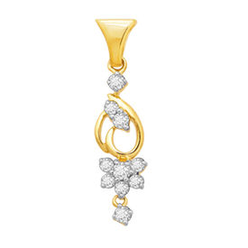 Flora Bunch Diamond Pendant- BAPS236P