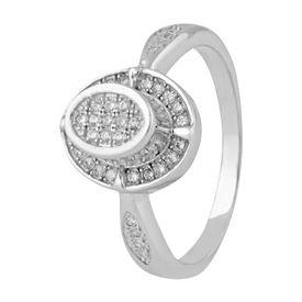 Marvellous White Zircon Sterling Silver Finger Ring-FRL130
