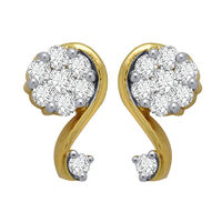 Diamond Earrings - GUTS0051ER, si - ijk, 18 kt