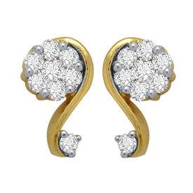 Diamond Earrings - GUTS0051ER, si - ijk, 14 kt
