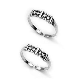 Geomatric Silver Toe Ring-TR140