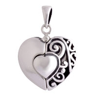 I Love You Open Silver Pendant-PD177