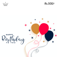 Happy Birthday To You Gift Card, 500