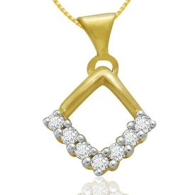 Diamond Pendants - BAPS0105P, si - ijk, 14 kt