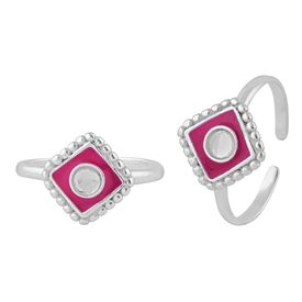 Amazing Enamel Sterling Silver Toe Ring-TR397
