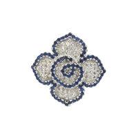 Pretty White & Blue CZ Silver Finger Ring-FRL034