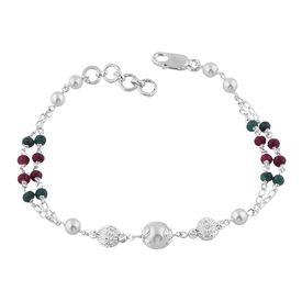 Pearl & Beads Sterling Silver Bracelete-BR026
