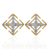 Cheerful Diamond Studs- BAPS0546ER, si - ijk, 18 kt