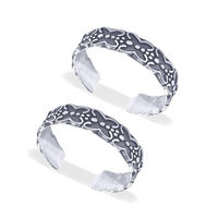 Tiny Butterfly Silver Toe Rings-TR465