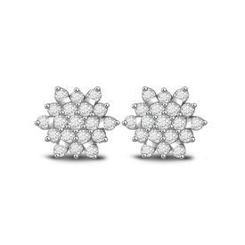 Diamond Earrings - BAPS421ER, si - ijk, 14 kt