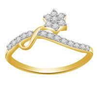 Pleasing Diamond Ring - BAR2962, si - ijk, 12, 14 kt