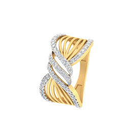 Curvilinear Diamond Finger Ring-RRI00897