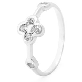 Lovely White Zircon Silver Finger Ring-FRL089, 12