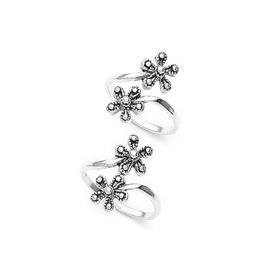 Pretty Top Openable Floral Toe Ring-TR330