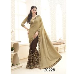 Galaxy Collection Vol 14 Designer Saree Brown, brown, knitted