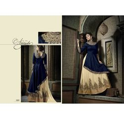 Hanin Collection Vol 3 Salwar Suit Semistitched Blue, blue, silk