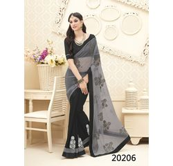 Galaxy Collection Vol 14 Designer Saree Black, black, net