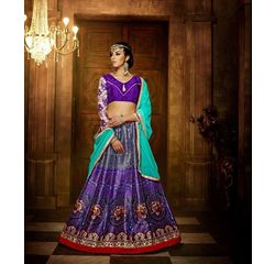Klaur Collection Designer Lehengas Purple, purple, bangalore silk