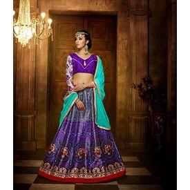 Klaur Collection Designer Lehengas Purple, purple, bangalore silk
