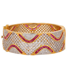 Diamond & Ruby Allure Bangle Bracelet, red