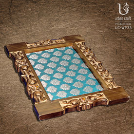 Brocade Finish Tray in wood carving