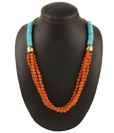Honey Beads Necklace, carrot