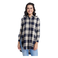 Only Checked Shirt, 40,  navy blue