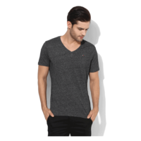 Tommy Hilfiger Graphic V Neck T-Shirt, m,  dark grey