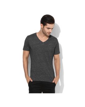 Tommy Hilfiger Graphic V Neck T-Shirt, s,  dark grey
