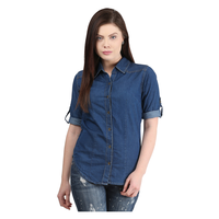 Mayra Solid Shirt, s,  navy blue